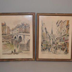Franz HERBELOT (XX) - Lithographie de Paris