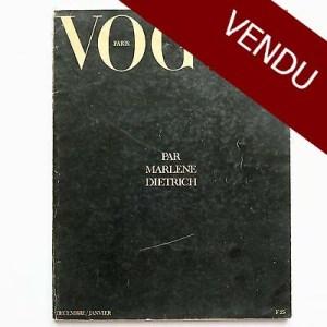 Vogue Paris - PAR MARLENE DIETRICH - Décembre 1973 / Janvier 1974