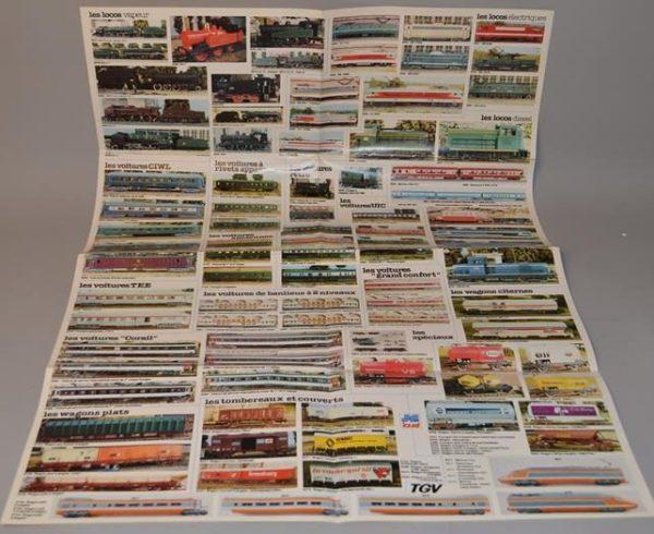 """Poster Jouef """" Les rails """" élément de voies - Train, wagon, locomotive"""