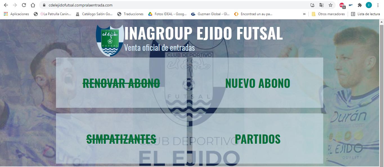 ¡Entradas y abonos ya a la venta en la web de Inagroup El Ejido Futsal!