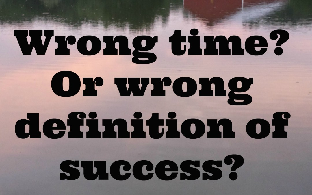 Wrong Time or Wrong Definition of Success?