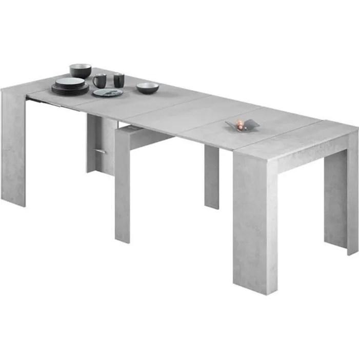 table console extensible coloris beton 78 x 90 x