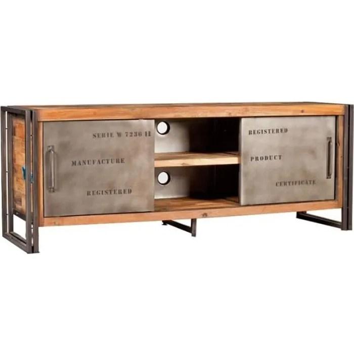 meuble tv 2 portes coulissantes