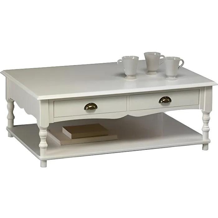 table basse blanche de style anglais