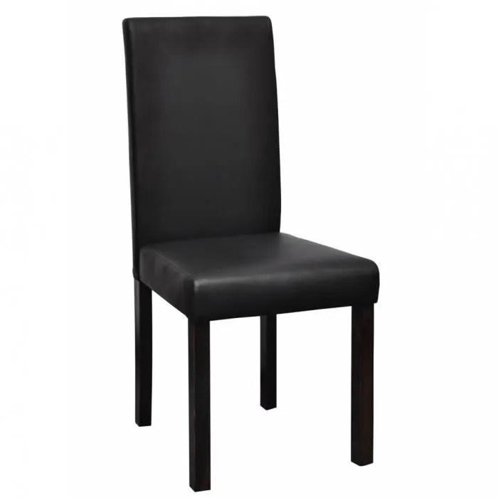 chaises de cuisine et de salle a manger chaise design colonial noire lot de 6