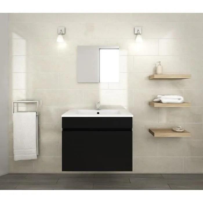 luna ensemble salle de bain simple vasque l 60 cm