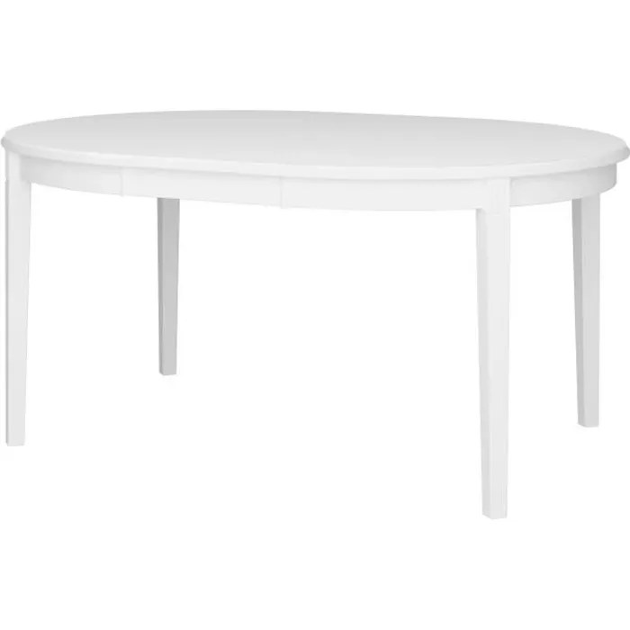 table ronde blanc laque