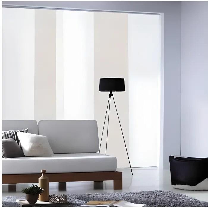 madecostore panneau japonais tamisant uni soft inspire beige beige l45 x h260cm