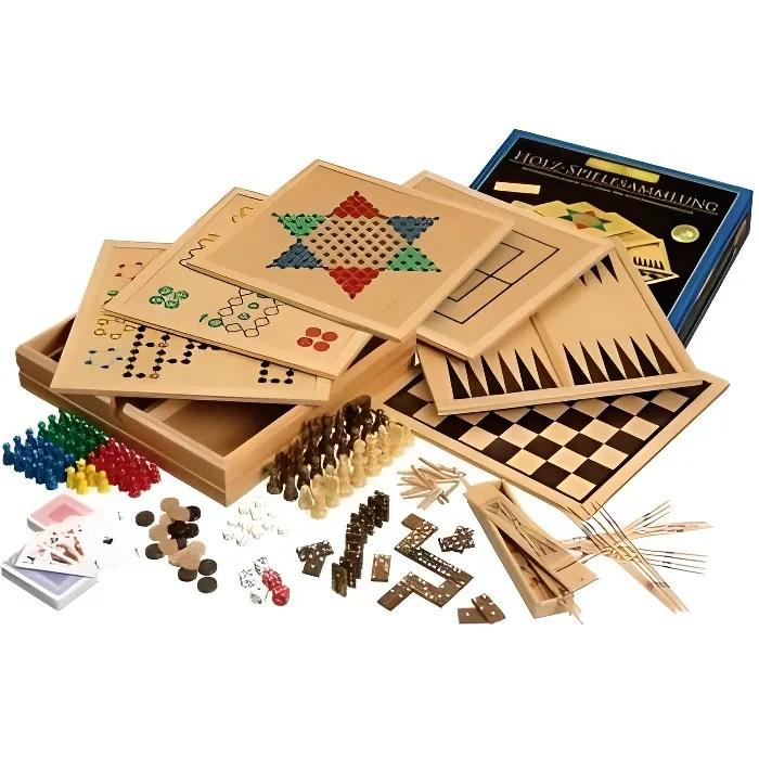 coffret de jeux en bois deluxe jeux