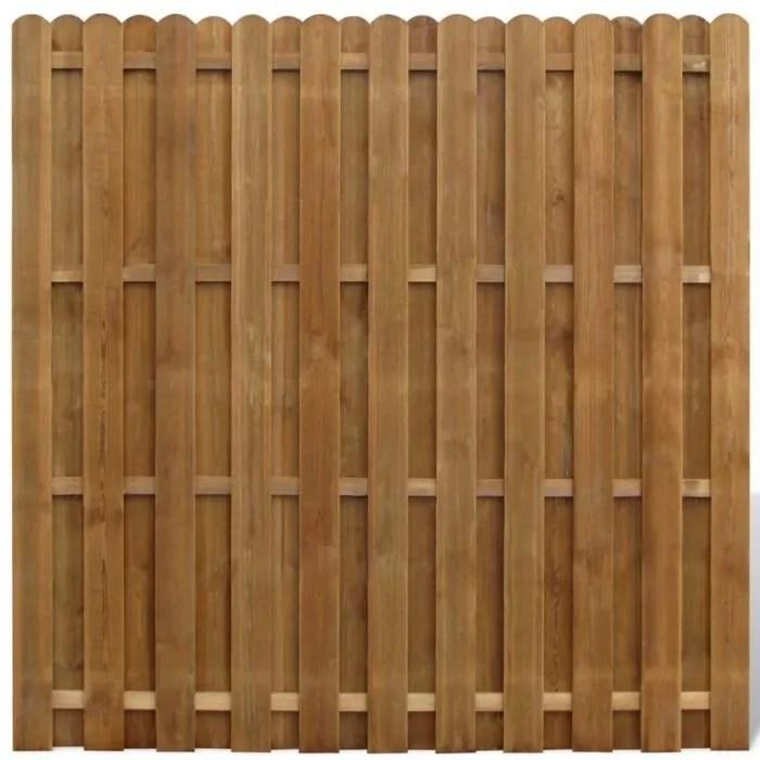panneau de cloture en bois avec planches intercale