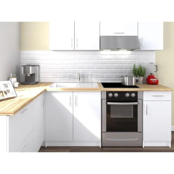 obi cuisine complete d angle l 280 cm blanc mat