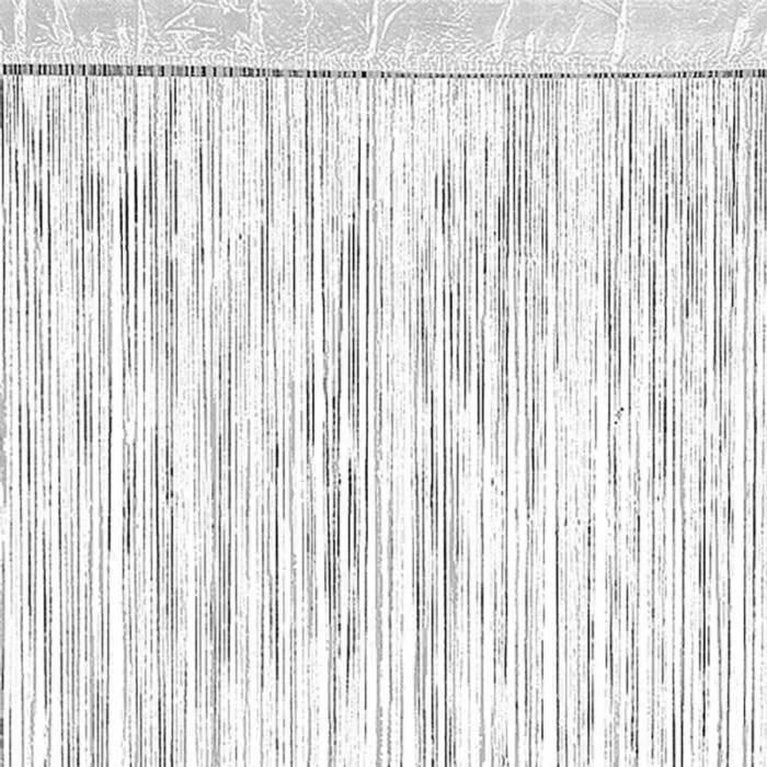 rideau a fils blanc