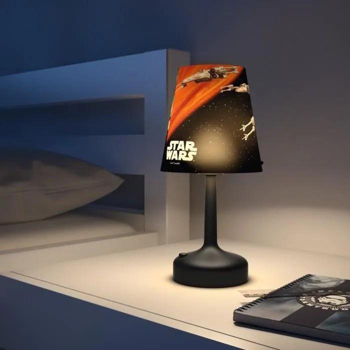 philips star wars lampe de chevet enfant led portable dark vador 26x10x10 cm blanc