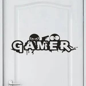 gamer stickers muraux