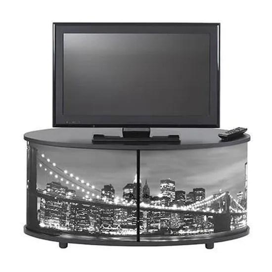 meuble tv noir new york achat vente