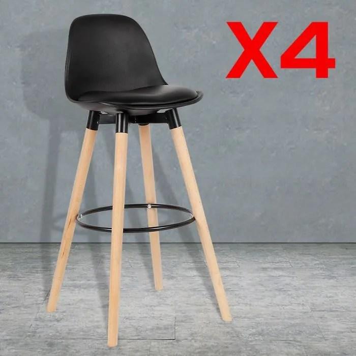 dasuola lot de 4 tabourets de bar chaises bar de h