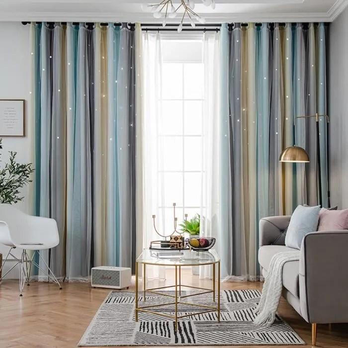 rideaux occultants creux de couleur degrade rideau