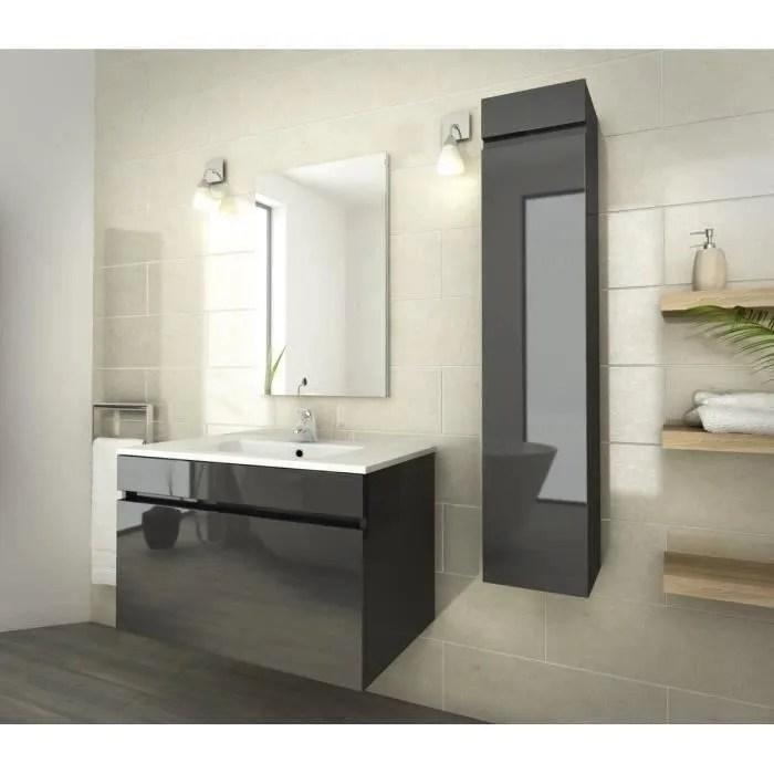 luna ensemble salle de bain simple vasque l 80 cm
