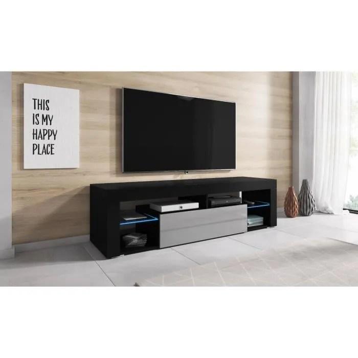 meuble tv gris et noir
