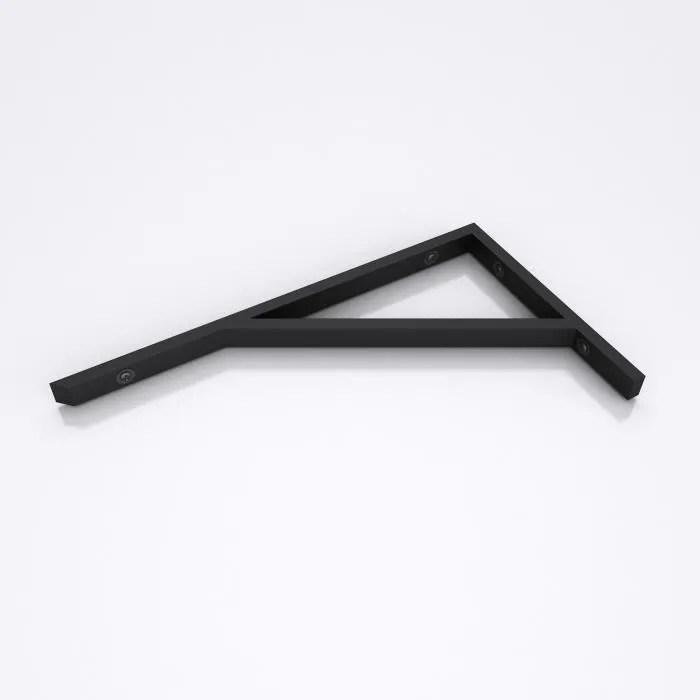 equerre de fixation 45cm sogood 2 pieces etagere murale console support wh02 en acier inoxydable noir 45x25cm