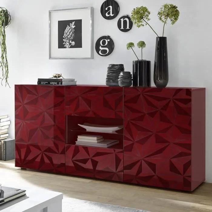 bahut buffet rouge laque design 2