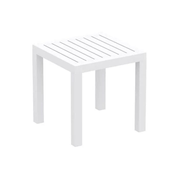 petite table de jardin en plastique blanc resistan