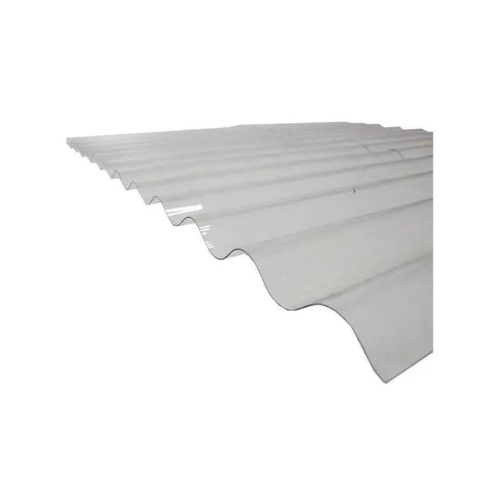Plaque Polycarbonate Ondulee Translucide L 3 M L 90 Cm Translucide Cdiscount Bricolage