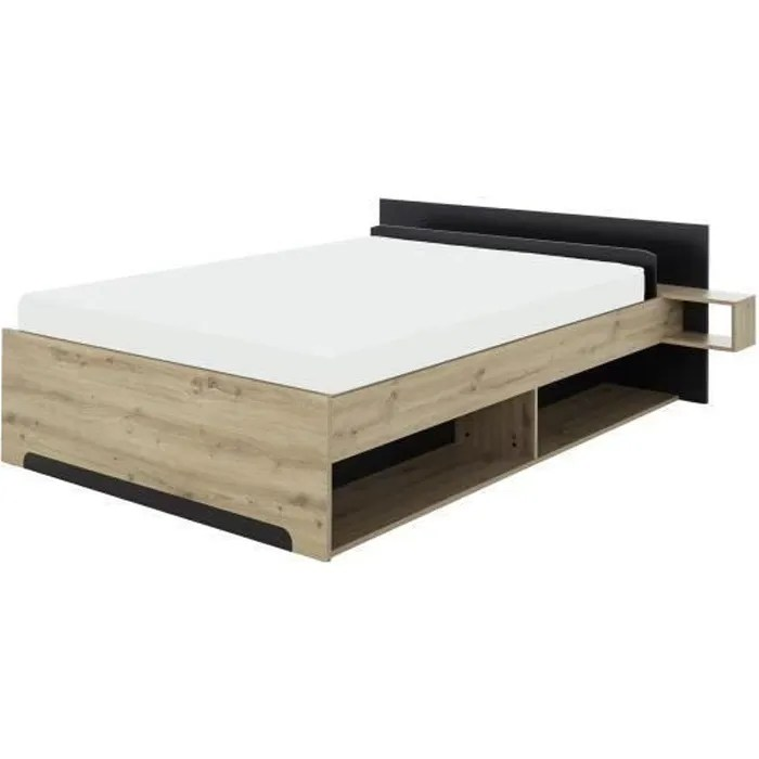 lit adulte bois avec tiroir de rangement