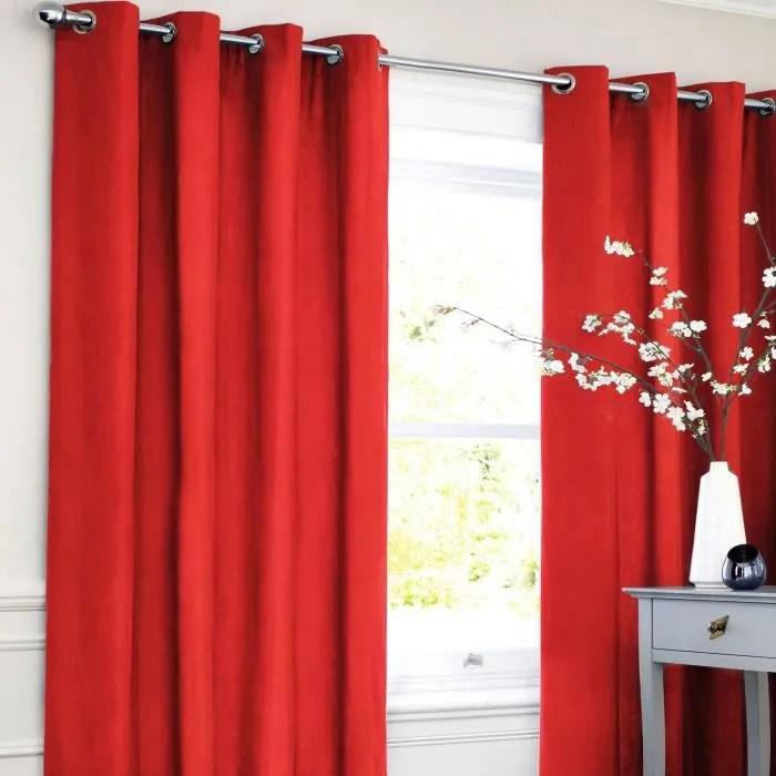rideau occultant 140 x 250 cm rouge