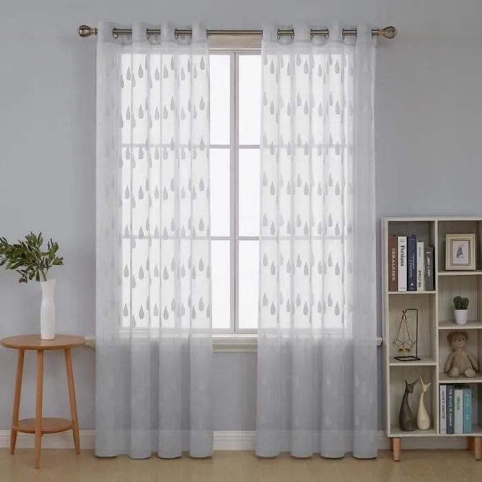 rideaux de tulle 270cm x 100cm rideaux