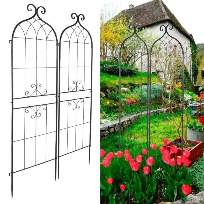 Duokon Treillis De Jardin Jardin Treillis Plante Grimpante Cadre Support Grimpant Aide Pour Roses Vignes Jardinage Accessoire Cdiscount Jardin