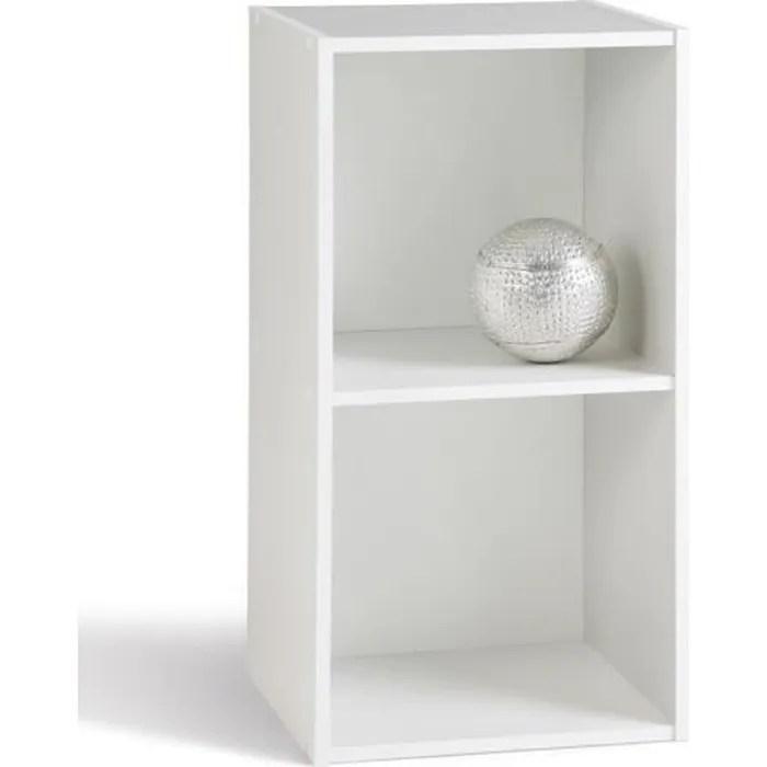 meuble 2 cases blanc