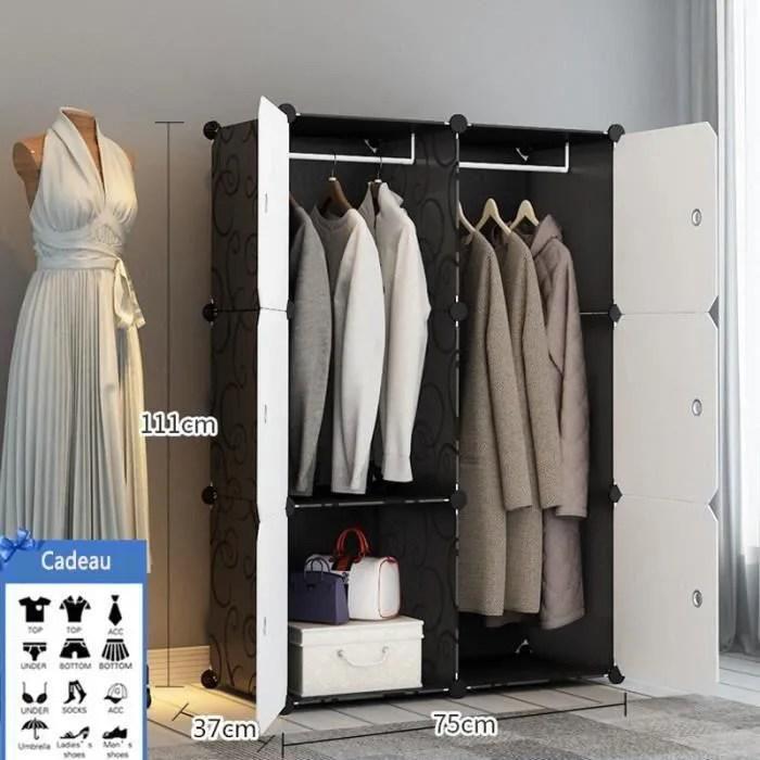 armoire de vetement de rangement plastique garde robe simple 6 casiers meuble combinaison ordinaire2