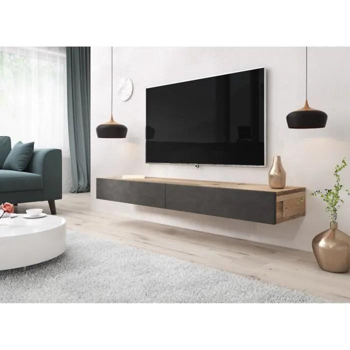 e com meuble tv sierra 140 cm vieux bois cla