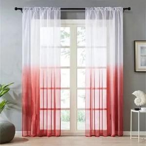 rideaux et voilage rouge