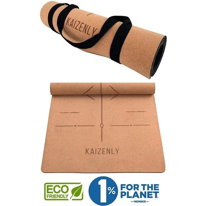 https www cdiscount com le sport fitness musculation yoga kaizenly pro tapis de yoga ecologique liege natu f 121041702 auc2008454765047 html