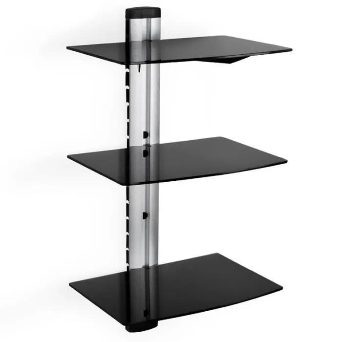 support mural etagere en verre avec 3 etageres meuble tv design