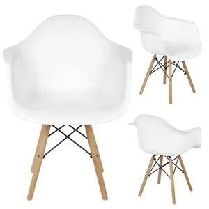 fauteuil scandinave lot 2 blanc