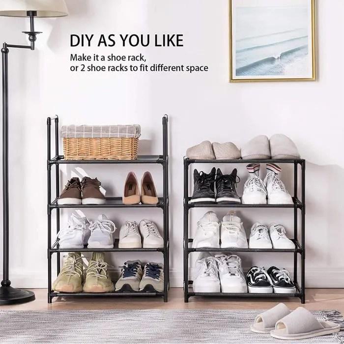 meuble chaussures rangement 8 niveaux