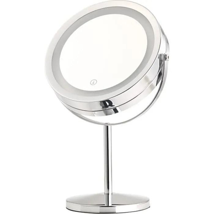 Miroir Grossissant Lumineux Led Double Face A Pied Achat Vente Miroir Soldes Sur Cdiscount Des Le 20 Janvier Cdiscount