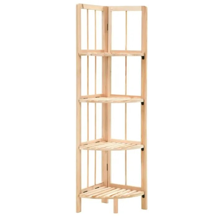 etagere d angle bibliotheque bois de cedre 27 x 27