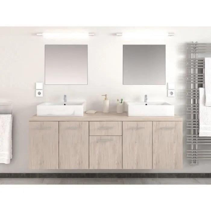 solde meuble salle de bain double