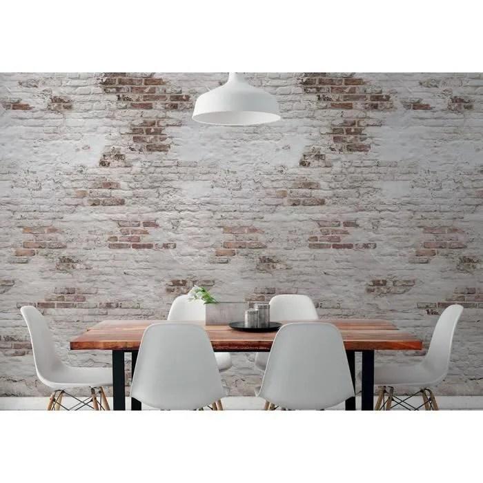 Hxa Deco Papier Peint Intisse Zen Decoration Murale Trompe L œil Le Mur De Brique Rouleau Rouleau 0 53x8 4 M Cdiscount Bricolage
