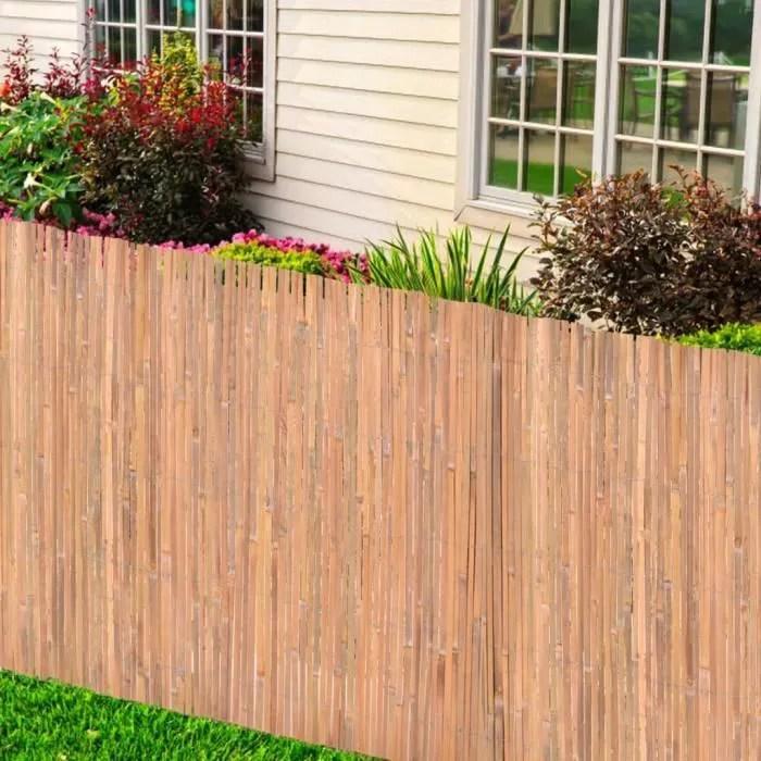 cloture en bambou 125x400 cm pour jardin terrasse