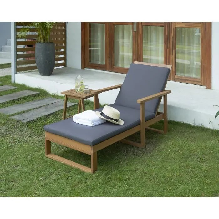 chaise longue bao bain de soleil bois