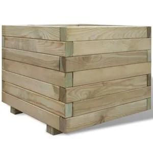 jardiniere carree 50x50x40 cm bois fsc