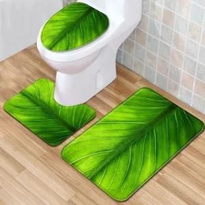 tapis de bain feuille