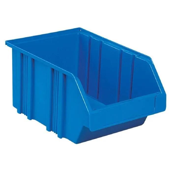 bac plastique empilable novap bleu dim103x75x160mm