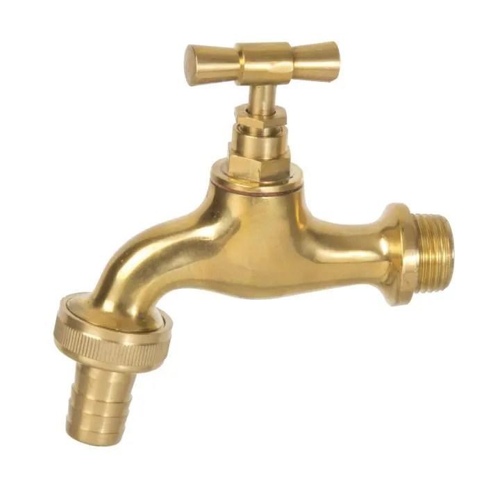 robinet exterieur en laiton fontaine jardin deco