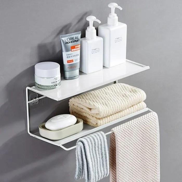 etagere murale salle de bain avec porte serviette